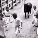 Julen (izda) guíando al toro