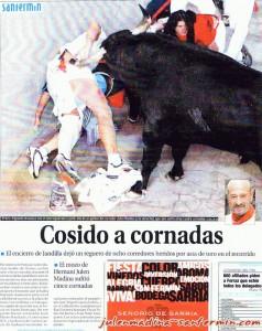 Portada de Diario de Navarra 13/07/2004