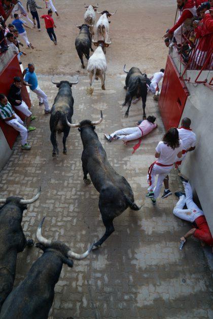 Miuras en Pamplona